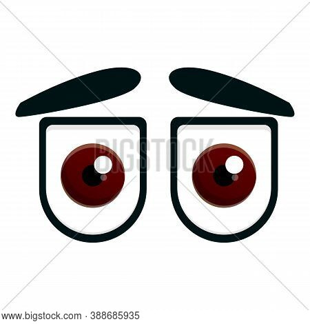 Watching Eyes Icon. Cartoon Of Watching Eyes Vector Icon For Web Design Isolated On White Background