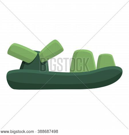Footwear Sandals Icon. Cartoon Of Footwear Sandals Vector Icon For Web Design Isolated On White Back