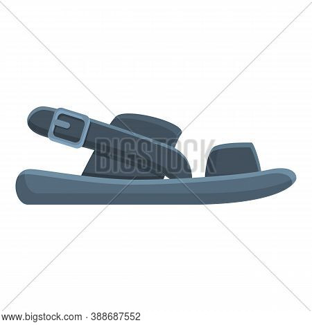 Platform Sandals Icon. Cartoon Of Platform Sandals Vector Icon For Web Design Isolated On White Back