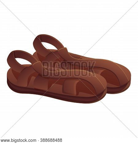 Man Sandals Icon. Cartoon Of Man Sandals Vector Icon For Web Design Isolated On White Background