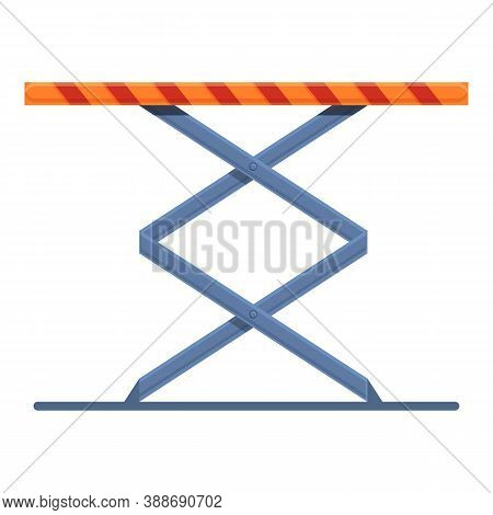 Diagnostic Car Lift Icon. Cartoon Of Diagnostic Car Lift Vector Icon For Web Design Isolated On Whit