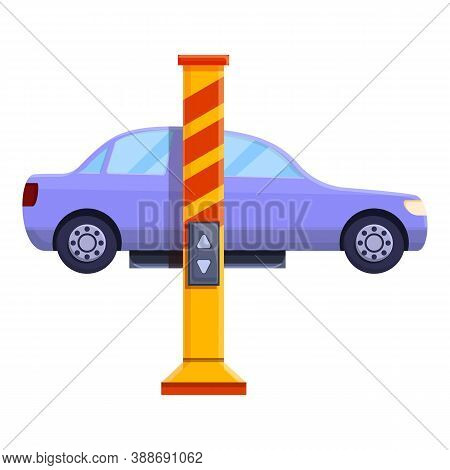 Car Lift Device Icon. Cartoon Of Car Lift Device Vector Icon For Web Design Isolated On White Backgr