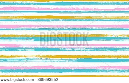 Pain Brush Stroke Rough Stripes Vector Seamless Pattern. Stylish Candy Wrap  Sweet Design. Vintage T