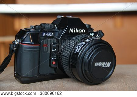 Nikon F-105 Analog Camera With Nikkor 35-70mm Auto Focus Lens. Single Lens Reflex Camera Products Th