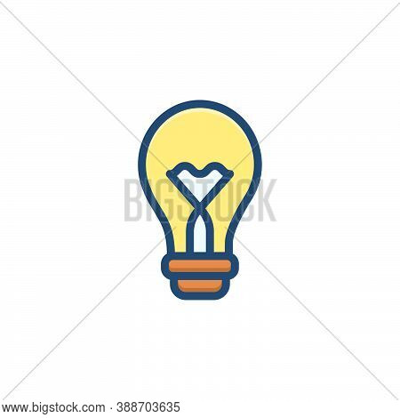 Color Illustration Icon For Bulb Efficiency Light Energy Inspiration Innovation Electric