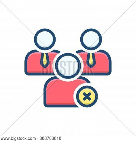 Color Illustration Icon For Nonmember Outsider External Outlier Dismiss