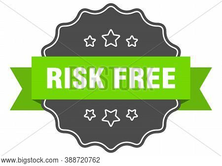 Risk Free Label. Risk Free Isolated Seal. Sticker. Sign