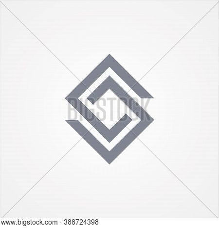 Design Letter S In Square Style For Your Best Business Symbol. Abstract Square Symbol Design. Vector