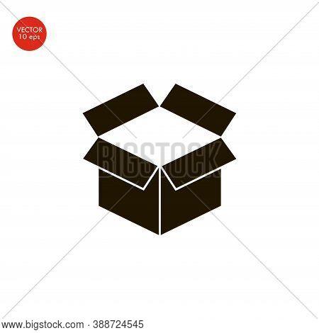 Box Icon Vector. Simple Flat Symbol. Black Pictogram Illustration On White Background.