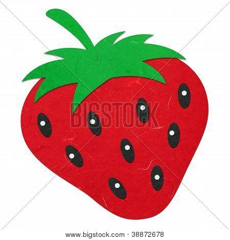 Rice Paper Cut Strawberry