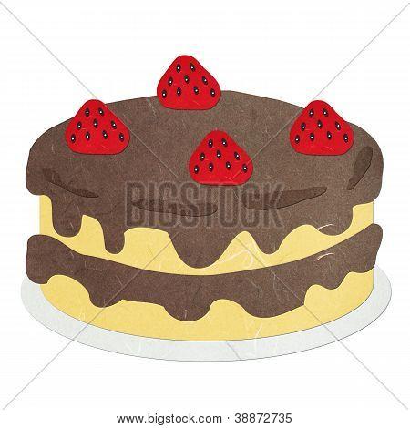 Rice Paper Cut Chocolate Cake