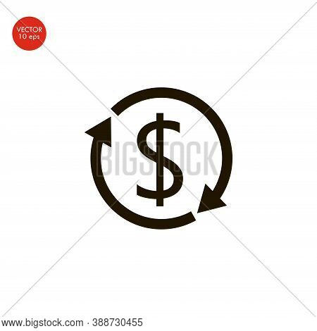 Dollars Sign Icon, Flat Design Best Vector Icon. 10 Eps
