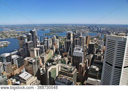 Sydney, Australia - 01 Jan 2019: View Of Sydney City Centre From The Tower, Australia