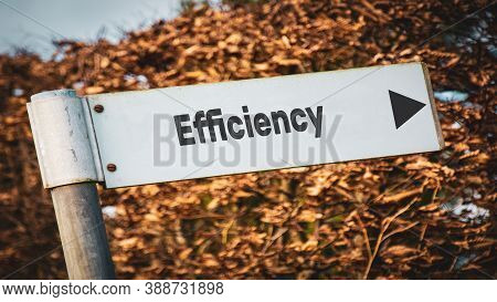 Street Sign The Direction Way To Efficiency