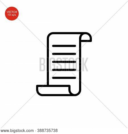 Flat Image Of The Receipt Icon. Vector Illustration 10 Eps