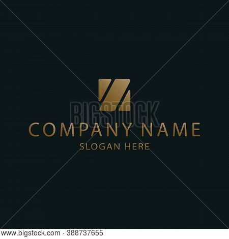 An Abstract Logo For A Company, Business Center Or Financial Company. Logo Design Template. Symbol,
