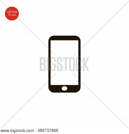 Flat Image Of The Smartphone Icon. Vector Illustration 10 Eps