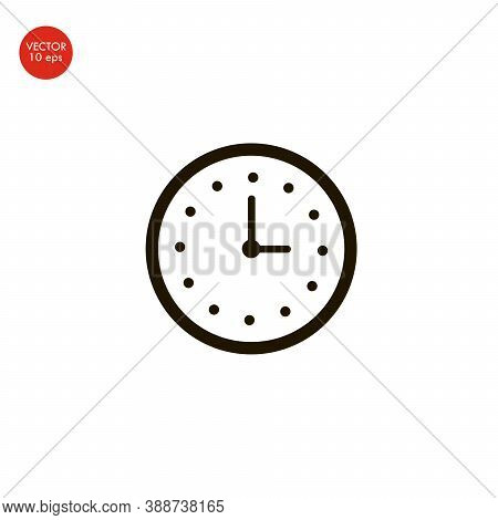 Flat Image Of The Watch Icon. Vector Illustration 10 Eps