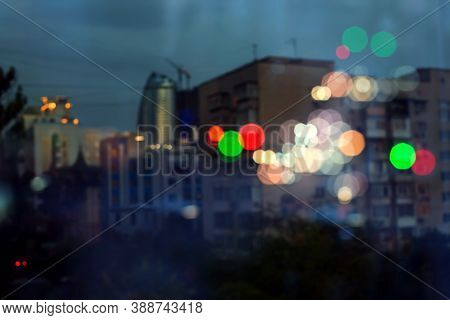Blurred Night Lights. Background, Light Spots, Flashes, Lights, City Lights, Night City, Light Bulbs