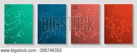 Electromagnetic Field Concept Abstract Vector Covers. Doodle Waves Render Backdrops. Tracery Noteboo