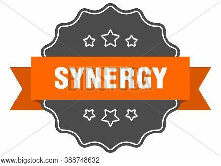 Synergy Label. Synergy Isolated Seal. Sticker. Sign