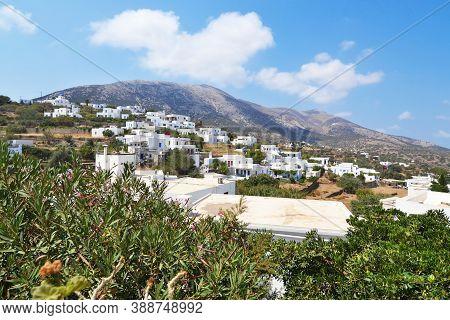 Scenery Of Apollonia Village Sinfos Island Cyclades Greece