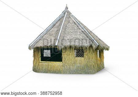 Outdoor Tiki Hut, Beach Hut Bar, Hay Thatch Hut, Tribal Hut, Straw Beach Bar, Tropical Bungalow Isol