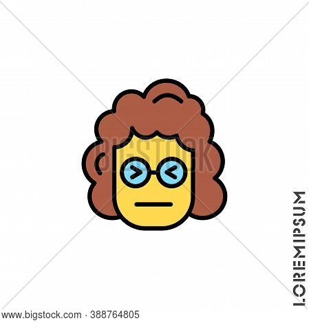 Angry Face Emoji Yellow Girl, Woman Icon Vector. Sad Face Emoticon Symbol. Style Sign For Mobile Con