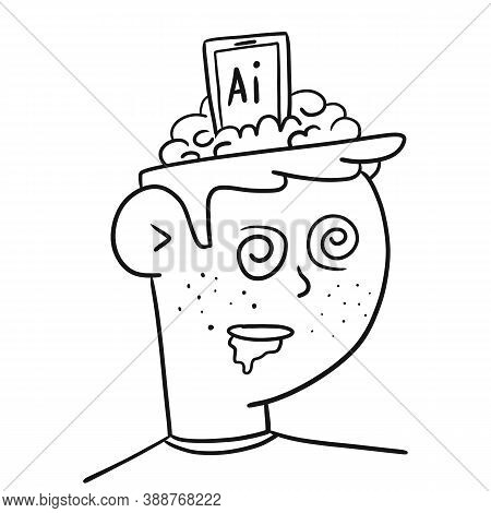A Person Under The Influence Of Ai, Flat. The Guy Is Drooling. The Teenager Is Not In Control Of His
