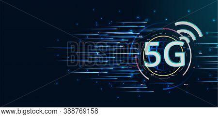 5g Wireless High Speed Internet.speed Of Network Internet Wireless. Global Network High Speed Innova