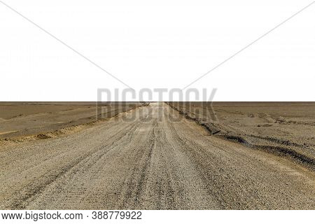 Empty Dirt Road Isolated Photo