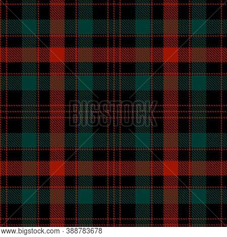 Checkered Plaid Vector Illustration. Tartan Cloth Pattern. Seamless Background Of Scottish Style. Gr