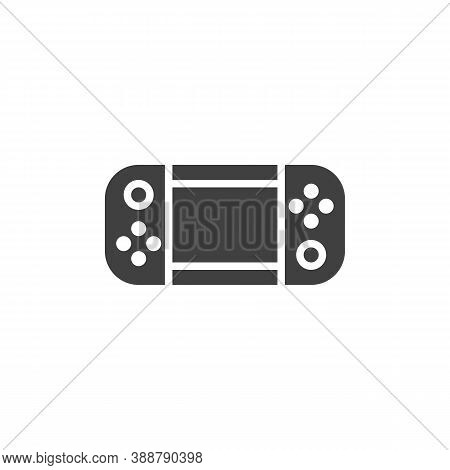 Handheld Game Console Vector Icon. Filled Flat Sign For Mobile Concept And Web Design. Gamepad Glyph