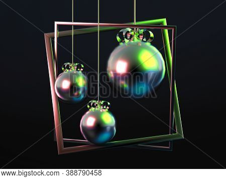 Beautiful Luxury New Year Christmas Holiday Background. 3d Illustration, 3d Rendering. 3d Illustrati