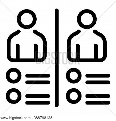 People Comparison Icon. Outline People Comparison Vector Icon For Web Design Isolated On White Backg
