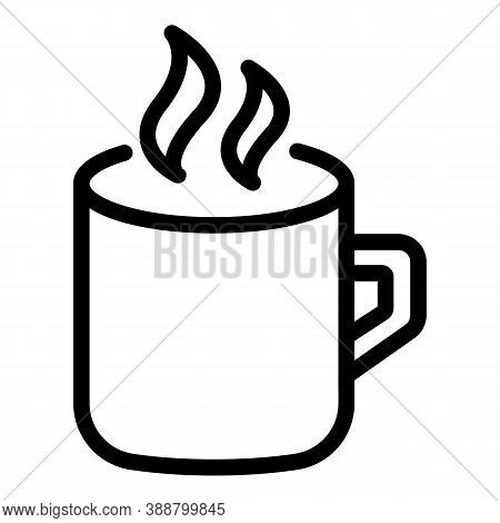 Hot Mug Icon. Outline Hot Mug Vector Icon For Web Design Isolated On White Background