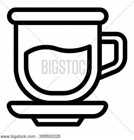 Half Drink Mug Icon. Outline Half Drink Mug Vector Icon For Web Design Isolated On White Background