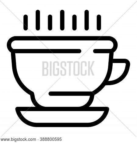 Kitchen Mug Icon. Outline Kitchen Mug Vector Icon For Web Design Isolated On White Background
