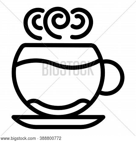 Cappuccino Mug Icon. Outline Cappuccino Mug Vector Icon For Web Design Isolated On White Background