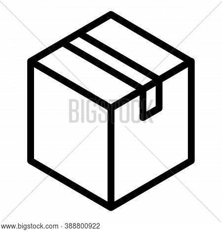 Parcel Icon. Outline Parcel Vector Icon For Web Design Isolated On White Background