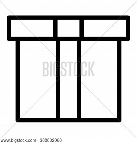 Send Postal Box Icon. Outline Send Postal Box Vector Icon For Web Design Isolated On White Backgroun