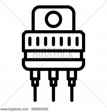 Electrical Voltage Regulator Icon. Outline Electrical Voltage Regulator Vector Icon For Web Design I