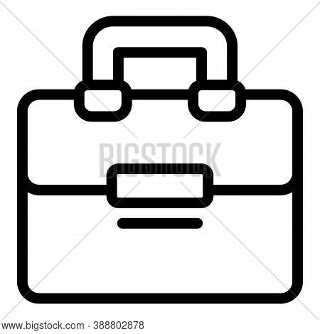 Satchel Laptop Bag Icon. Outline Satchel Laptop Bag Vector Icon For Web Design Isolated On White Bac