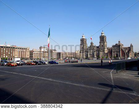 Mexico City, Mexico - 01 Mar 2011: Zocalo - Plaza De La Constitucion, Mexico City, Mexico