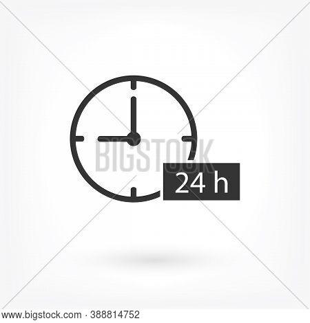 24h Support Icon . Lorem Ipsum Illustration Design