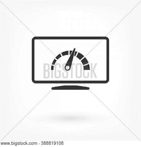 Laptop Acceleration Icon Vector . Lorem Ipsum Illustration Design