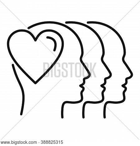 People Affection Icon. Outline People Affection Vector Icon For Web Design Isolated On White Backgro
