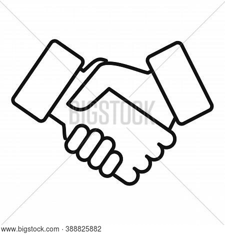 Friends Handshake Icon. Outline Friends Handshake Vector Icon For Web Design Isolated On White Backg