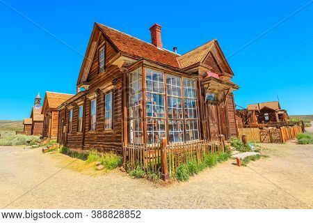 Bodie State Historic Park, California, United States Of America - August 12, 2016: House With Courty