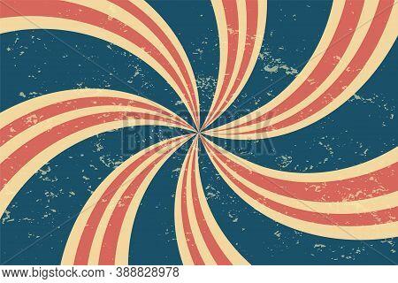 Grunge Retro Twirl Spiral Line Pattern Background